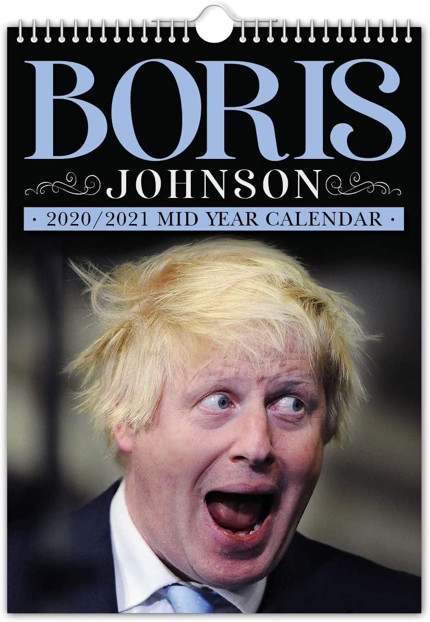 Boris Johnson – Calendario de pared de mitad de año // 2020 (julio) – 2021 (junio) – Divertido/Quirky – idea de regalo o regalo