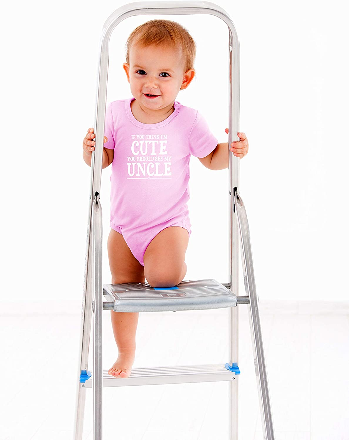 AW Fashions Im Cute You Shuld See My Uncle Cute One-Piece Infant Baby Bodysuit Funny Wingman