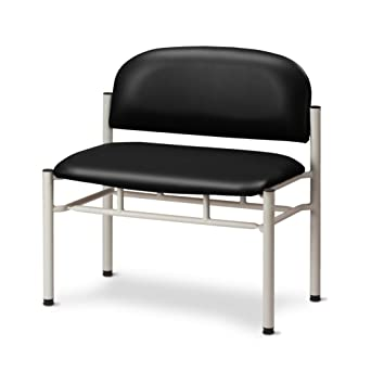 Peachy Amazon Com Extra Wide Gray Frame Chair With No Arms Black Caraccident5 Cool Chair Designs And Ideas Caraccident5Info