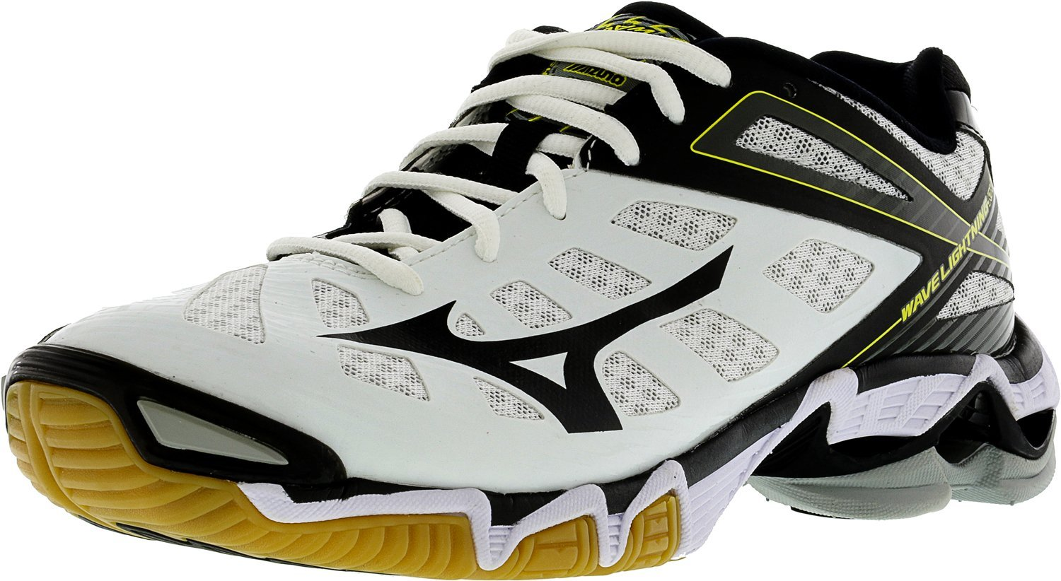 Mizuno Women's Wave Lightning RX3 Volley Ball Shoe,White/Black,8.5 M US by Mizuno (Image #1)