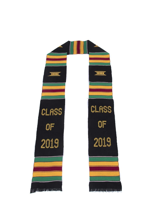 a317fc1b12 Class of 2019 Kente Cloth Graduation Stole (Black)