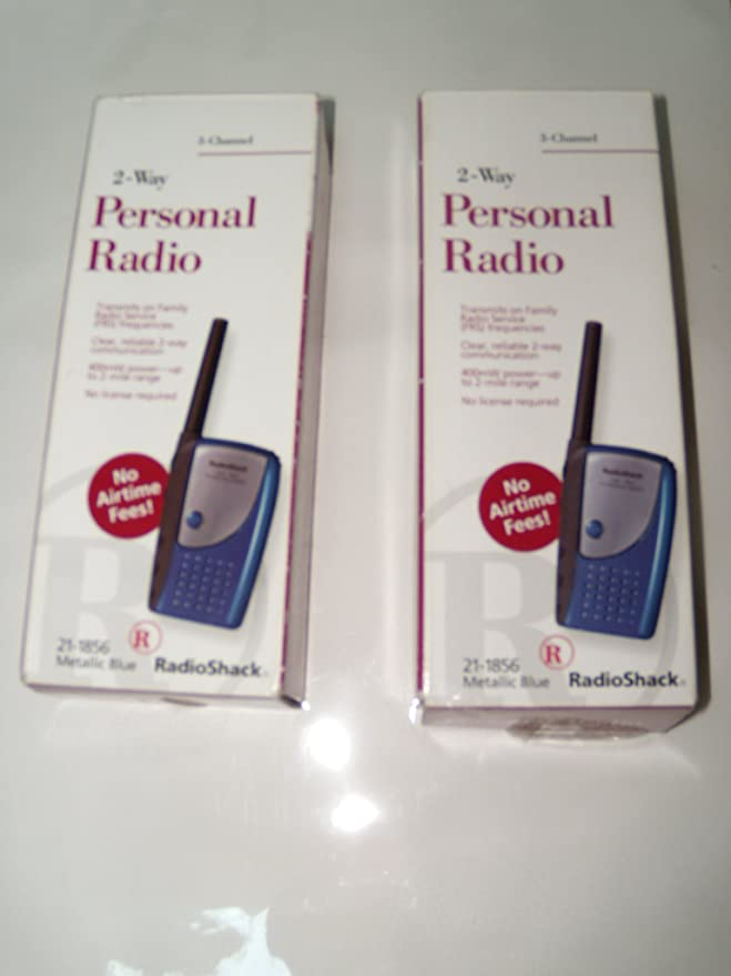 Amazon com: Set of 2 Radio Shack 2-Way Personal Radio 21-1856: Car