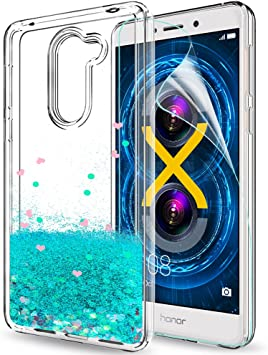 LeYi Funda Huawei Honor 6X / Mate 9 Lite Silicona Purpurina ...