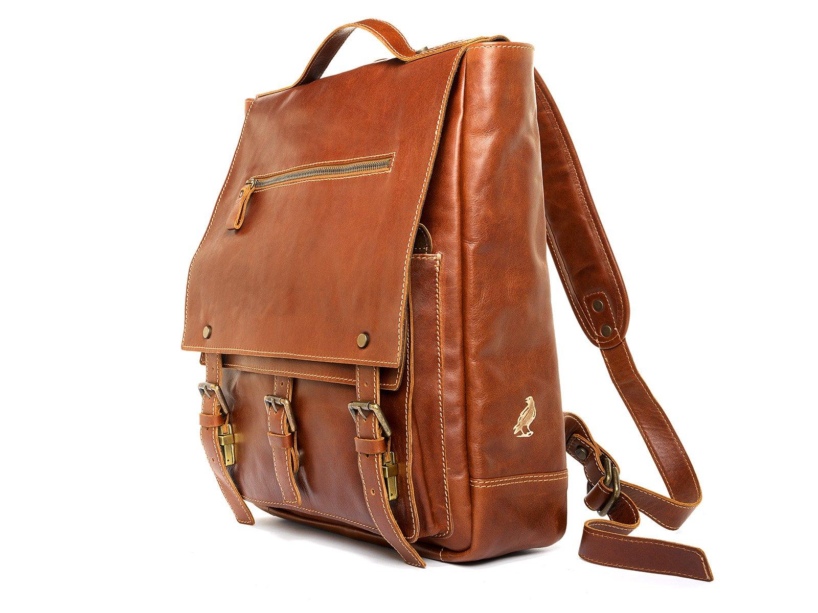 Handmade in Italy prime leather backpack men women travel