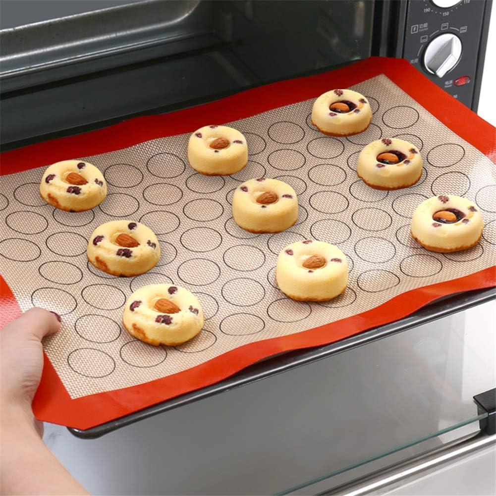 macarones Tapete para Hornear de Silicona Estera de silicona para hornear multifunci/ón 42 x 29,5 cm antiadherente para hornear con dise/ño de c/írculos para hacer galletas pan y reposter/ía