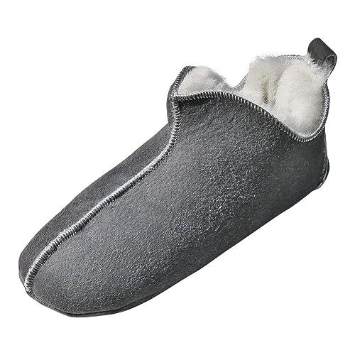 Hollert Leather - Zapatillas de Estar por casa de Cuero para Mujer Marrón Coñac 36 EU