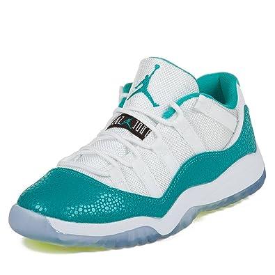Nike Boys Jordan 11 Retro Low GP Gamma White/Turbo Green-Volt Synthetic Athletic