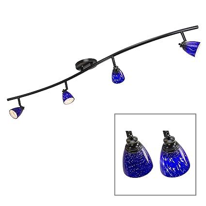 blue track lighting kitchen light directlighting lights fixed track lighting kit dark bronze finish blue glass