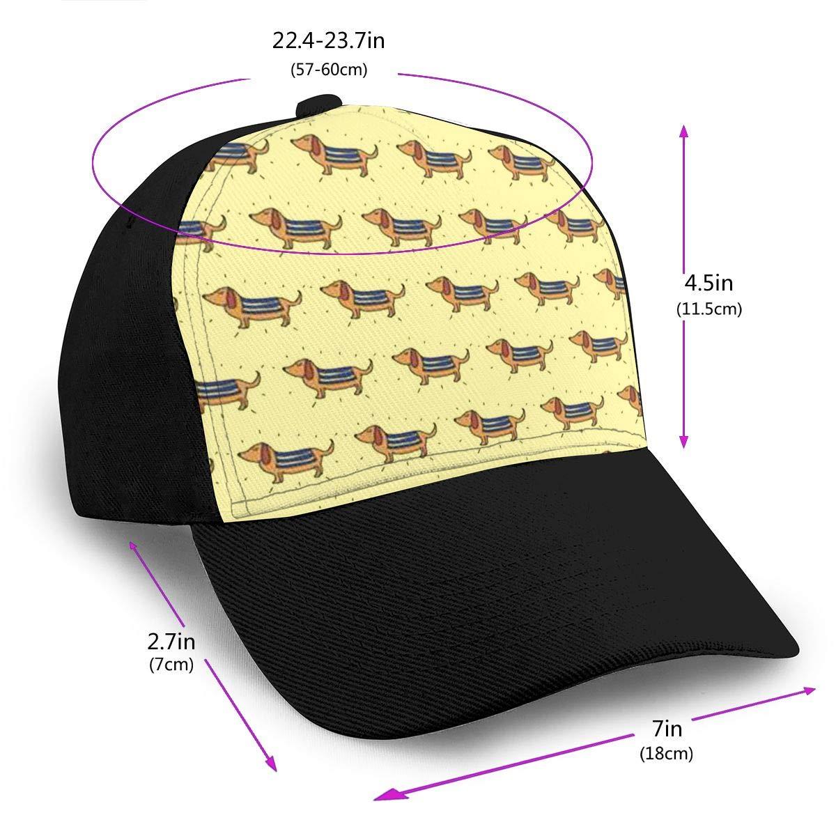 Classic Comfortable Dachshund Lovely Pet Adjustable Baseball Cap