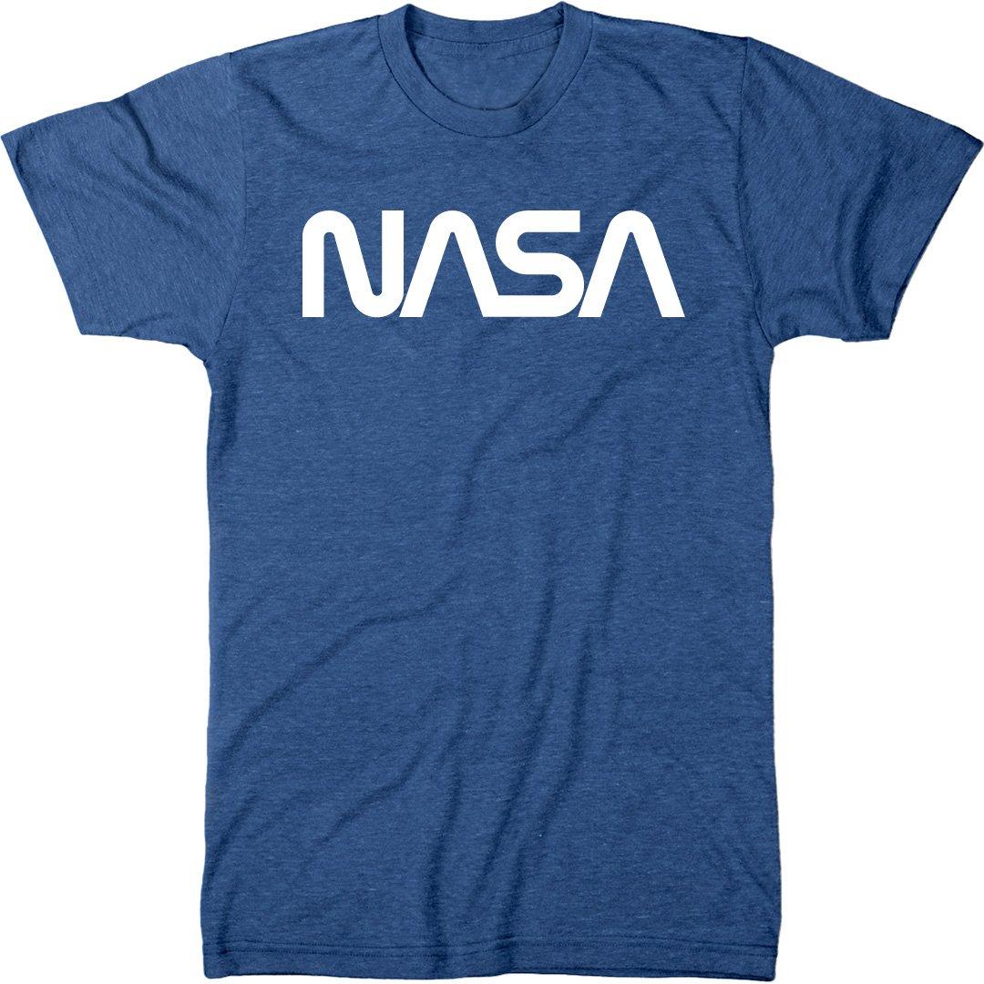 9e6f95fbb Amazon.com: NASA Vintage White Worm Logo Men's Modern Fit Tri-Blend T-Shirt:  Clothing