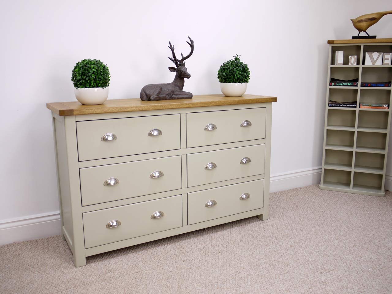 aspen white painted bedroom. Aspen Painted Oak Sage Grey Chest Of Drawers 6 Drawer Storage Bedroom Furniture Amazoncouk Kitchen U0026 Home White
