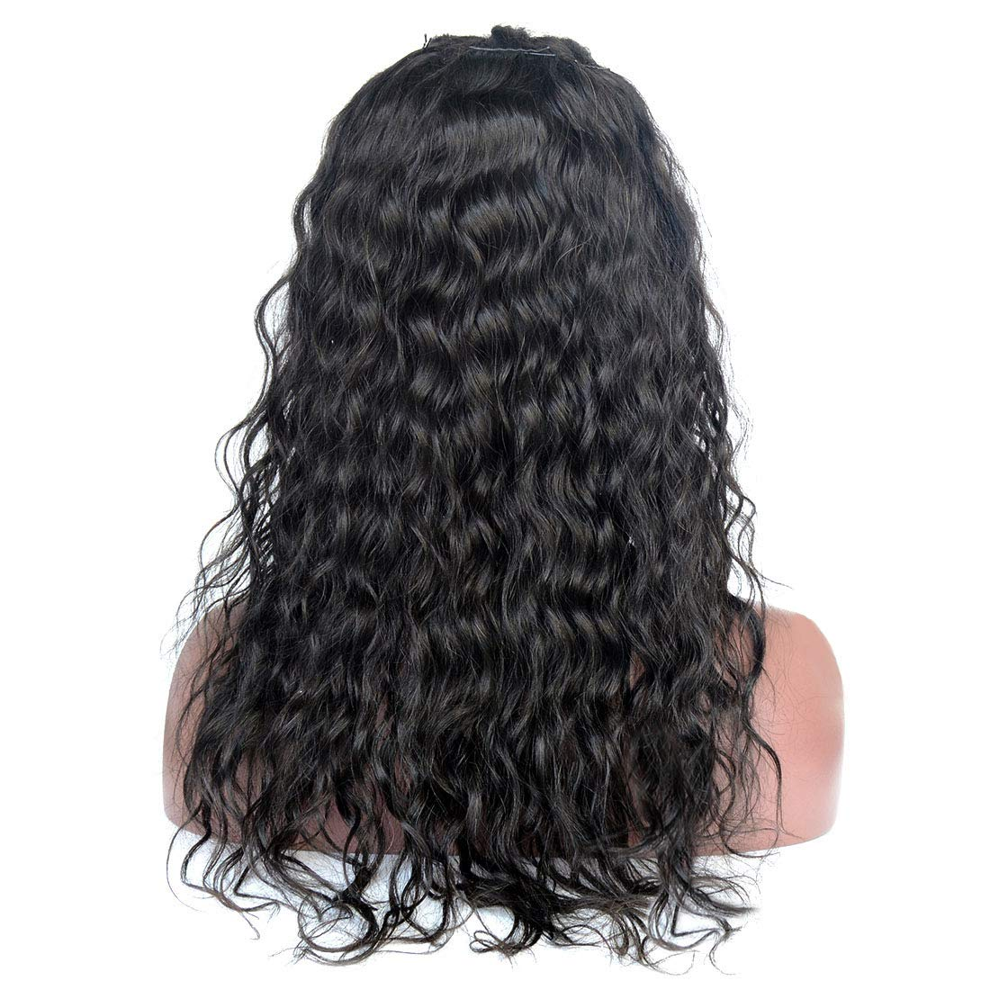 Amazon.com : Sunwell Full Lace Human Hair Wigs with Baby Hair Virgin Brazilian Human Hair Wigs for Black Women Water Wave 130% Density Natural Color 10inch ...