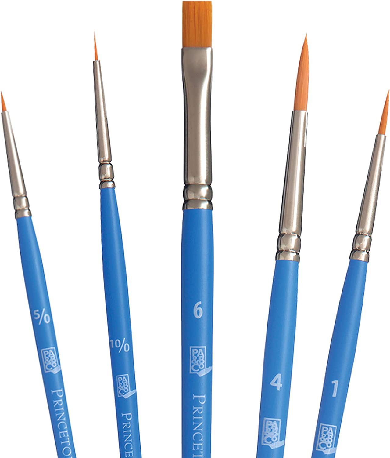 Princeton Select Artiste, Series 3750, Paint Brush for Acrylic, Watercolor and Oil, Set of 5
