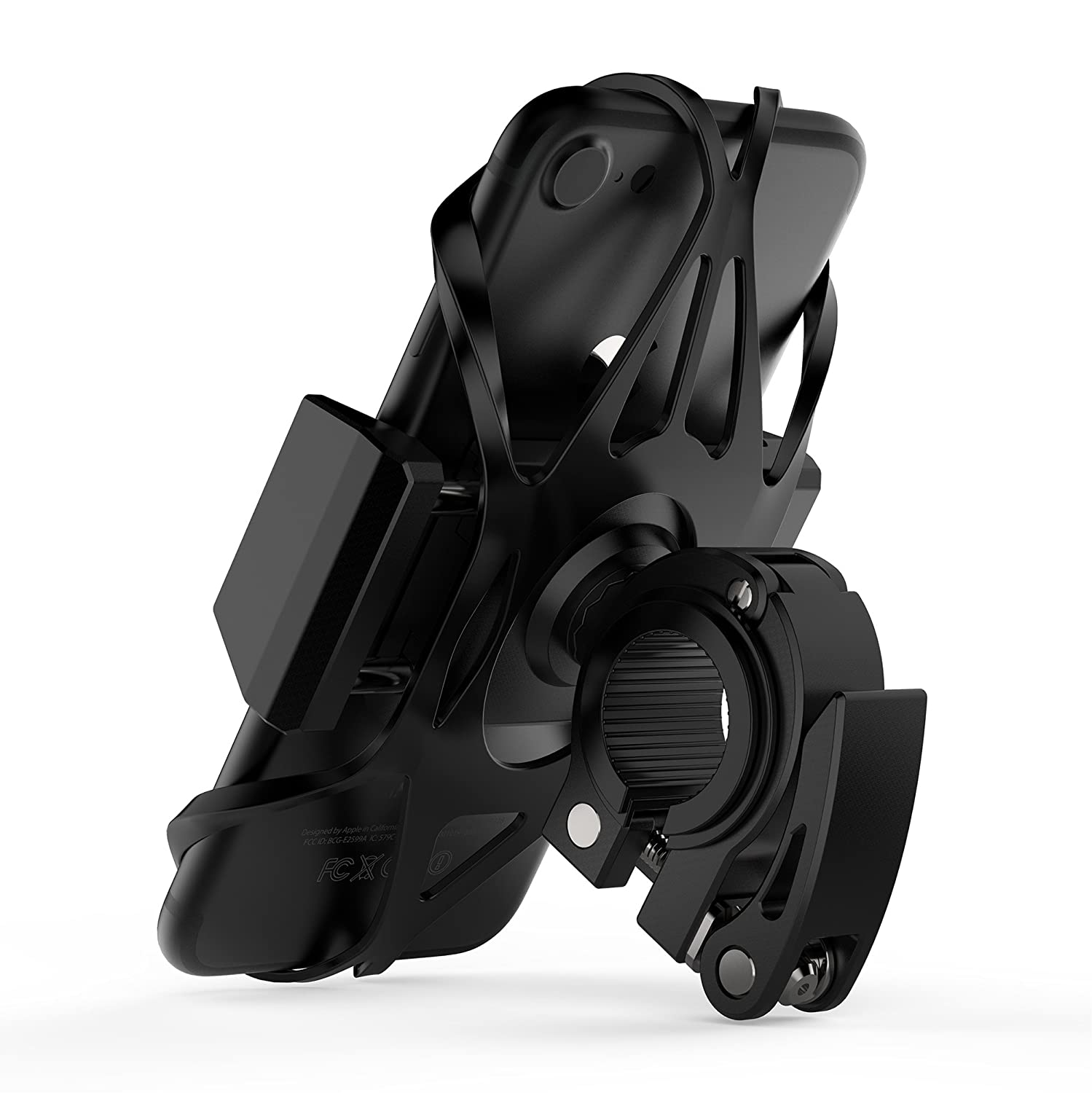 Widras Phone Bike Mount and Motorcycle Cell Phone Holder 2nd Generation For iPhone X XS 8 7 7s 6 6s 5 5s Plus Samsung Galaxy S10 S9 S8 S7 Note any Smartphone GPS Mountain Road Bicycle Handlebar Cradle