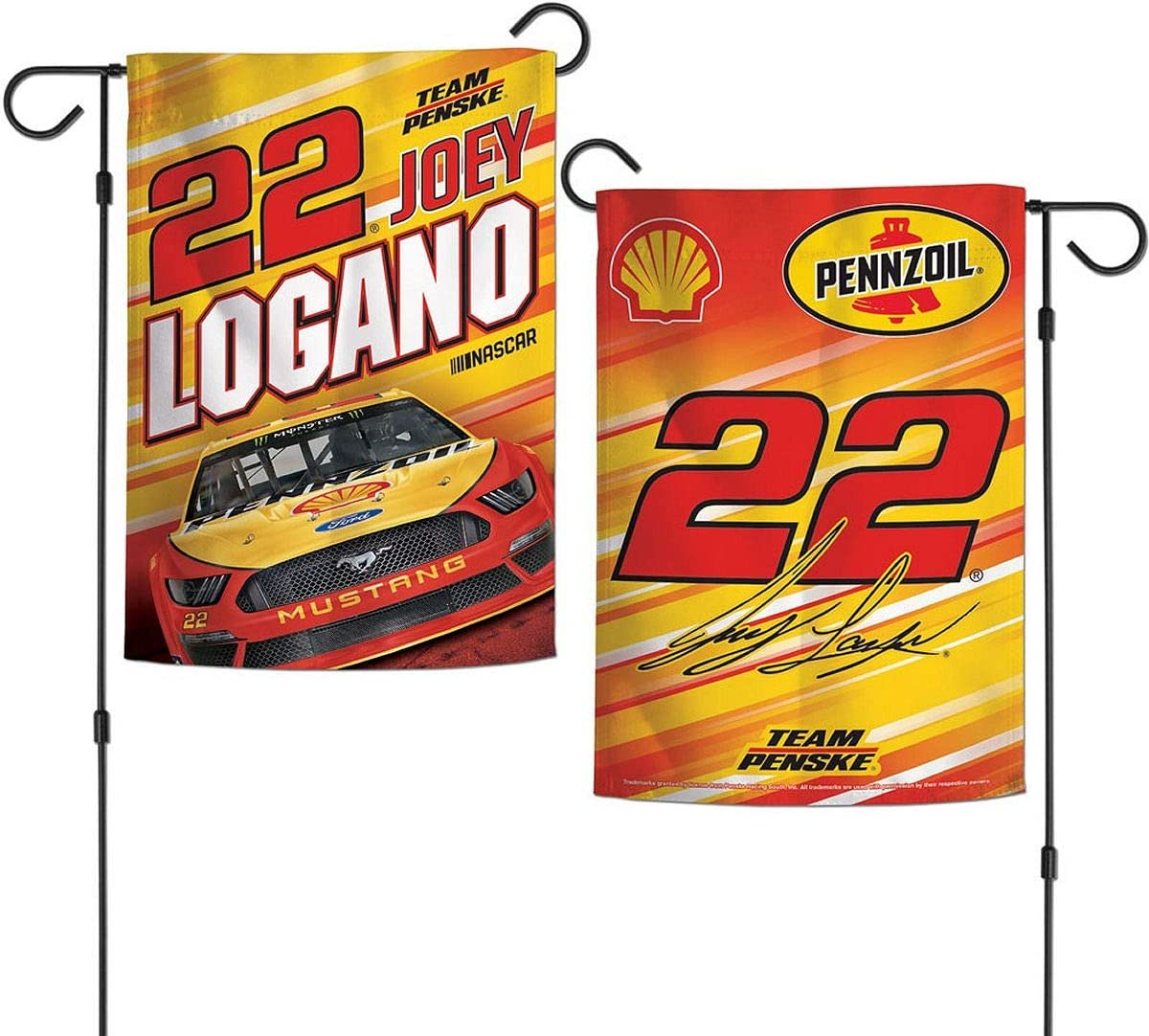 R and R Imports Kyle Busch #18 Doubled Sided Garden Flag