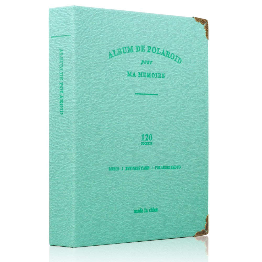 Ablus 120 Pockets Mini Photo Album for Fujifilm Instax Mini 7s 8 8+ 9 25 26 50s 70 90 Instant Camera & Name Card (Jade green)