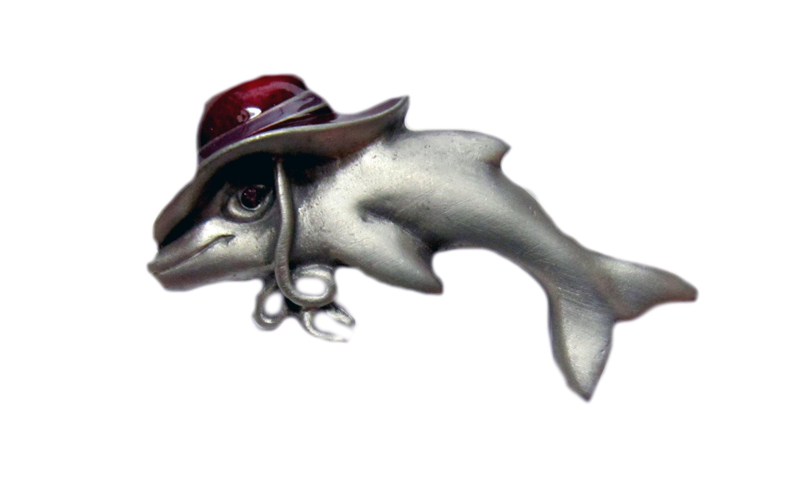 ''Baby Dolphin on a Rainy Day'' Pin/ Eyeglass/ID Holder