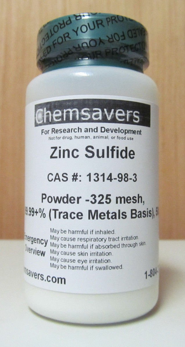 Zinc Sulfide, Powder -325 mesh, 99.99+% (Trace Metals Basis), Certified, 50g