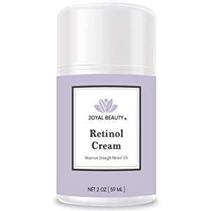 Joyal Beauty Retinol Moisturizer Cream for Face and Eye. Enhanced with Hyaluronic Acid, Squalane, Vitamin B3, B5, E, Argan Oil. Best Night Anti Ageing Moisturizer for Wrinkles, Fine Lines. 2 oz