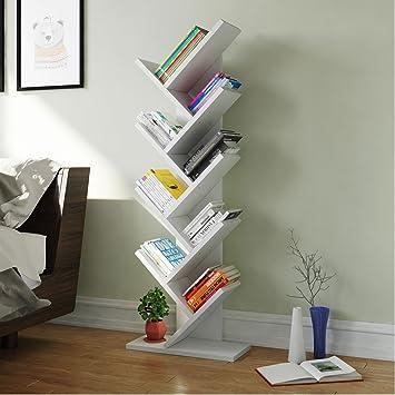 huge discount 8ca6d 7f326 Tribesigns 9-Shelf Tree Shaped Bookcase Book Shelf Modern ...