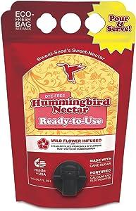 Sweet-Seed, LLC BHRTUM 1.5L RTU Bag Hummingbird Nectar, Red