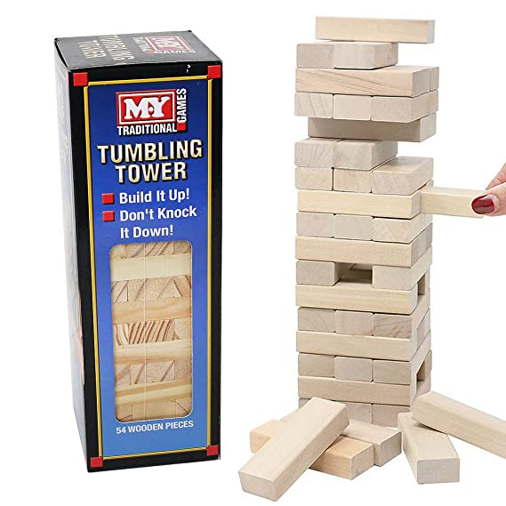 Wooden Tumbling Blocks Bricks Stacking Tower Kids Family Party Board Best Wooden Bricks Game