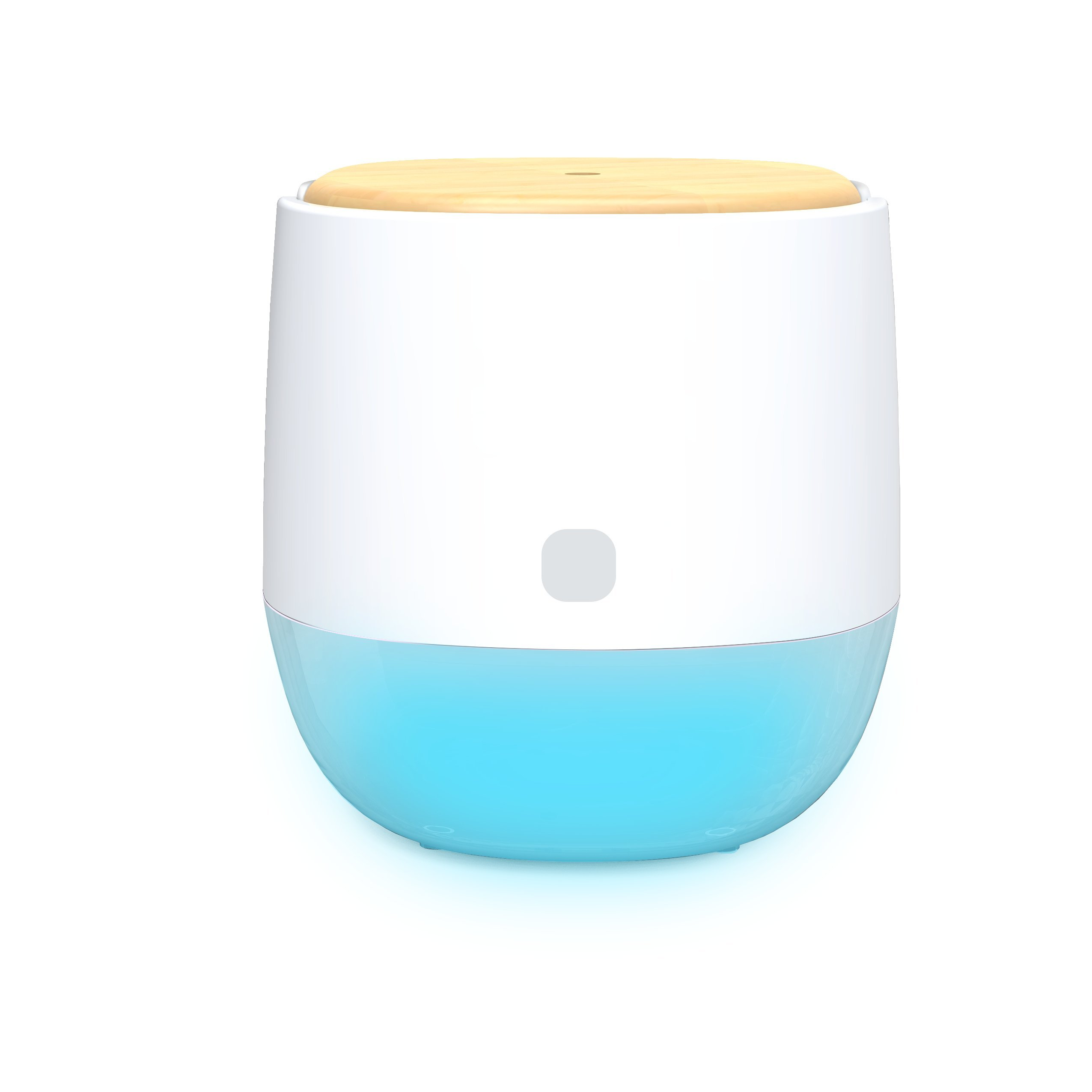 AROMATECH AromaPod 100% Pure Essential Oil Nebulizing Diffuser with Bamboo Top and LED Soft Light, 2 hour Auto Shut Off, Covers Areas of 500 sq.ft.