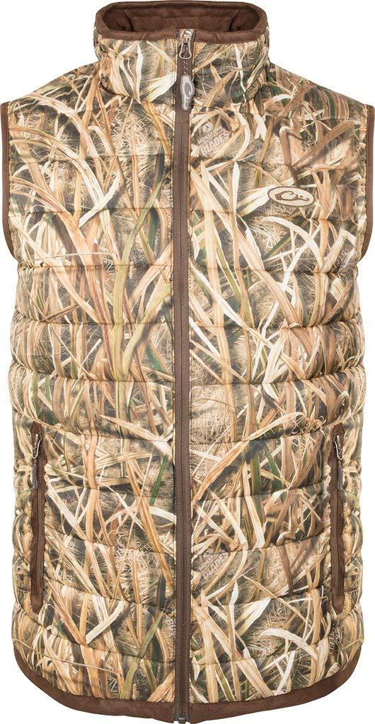Drake Men's Camo Double Down Endurance Layering Vest Polyester Mossy Oak. by Drake