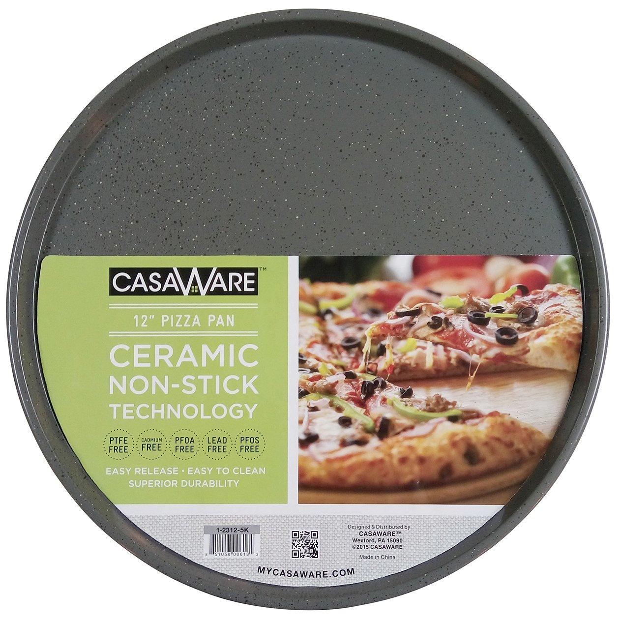 casaWare Pizza/baking Pan 12-inch (Silver Granite)