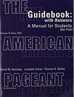 Amazon. Com: the american pageant guidebook, volume 2: a manual for.