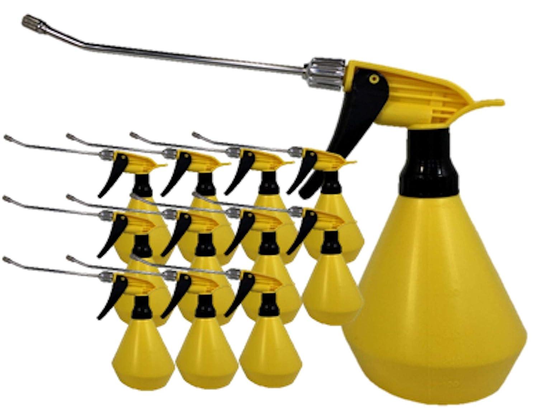 No.520YB-0.5L(500ml)-イエローブラックロングヨーデル黄色ピストル(1050-12)×12個&2枚付(送料込にて無料発送) B077LX2HHD