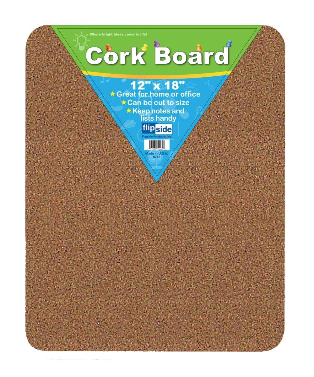 CORK BULLETIN BOARD 12 X 18 FLIPSIDE