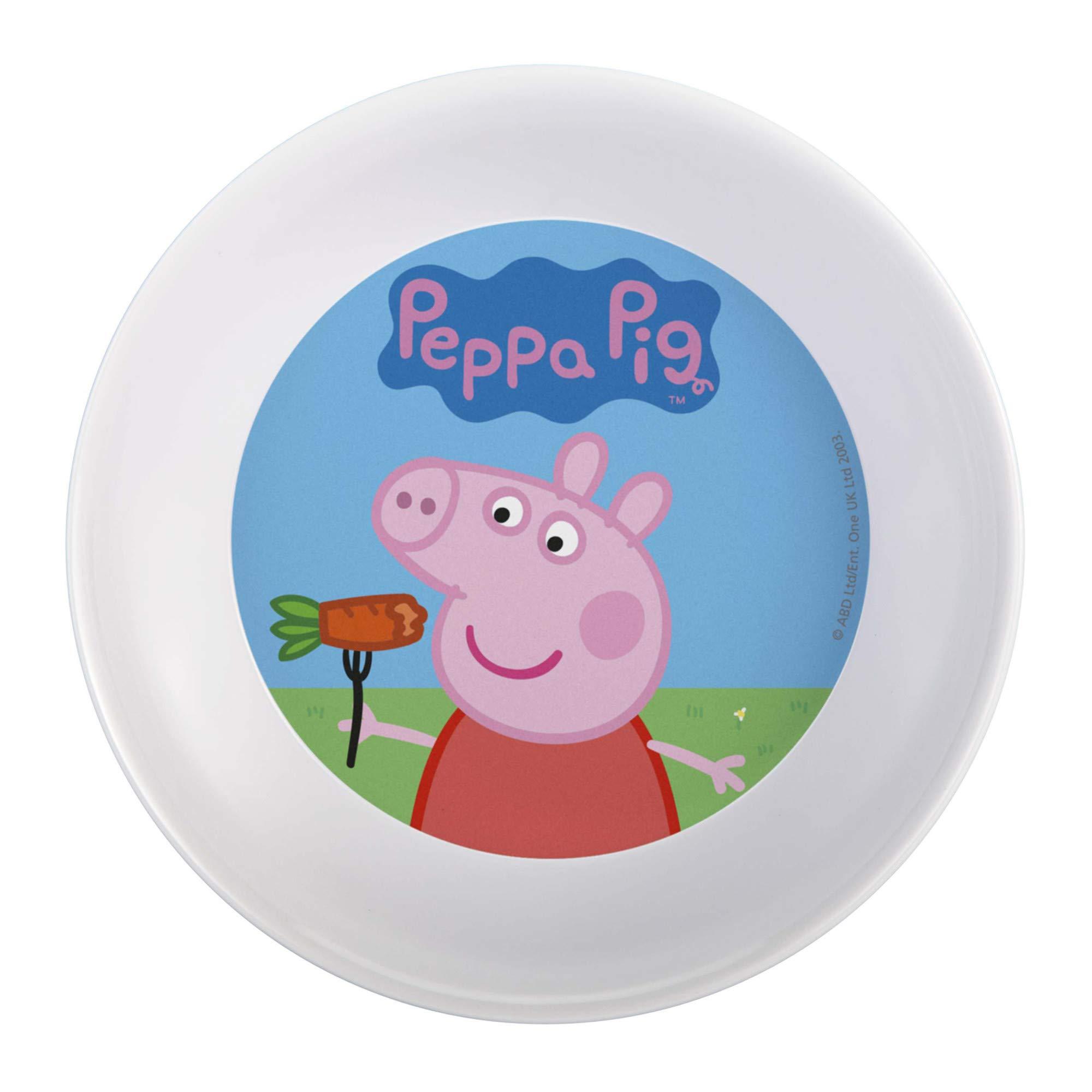 Nick Jr. PEPA-0391 Peppa Pig Melamine Plates 3-piece set by Zak Designs by Zak Designs (Image #2)