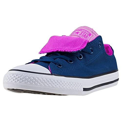 c992b97c8a Converse CTAS Double Tongue Ox Kids Trainers Navy Pink - 5 UK ...