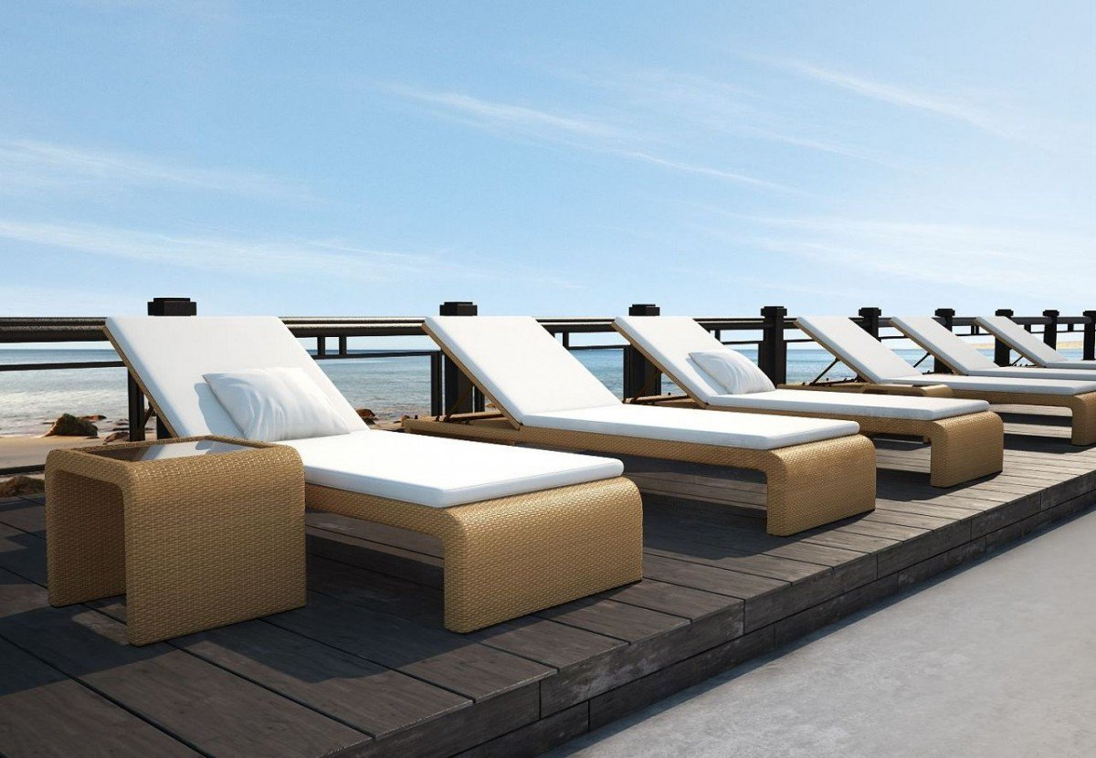 dreams4home gartenliege 39 maui 39 liege gartenliege balkonliege rattanliege mit auflage zum. Black Bedroom Furniture Sets. Home Design Ideas