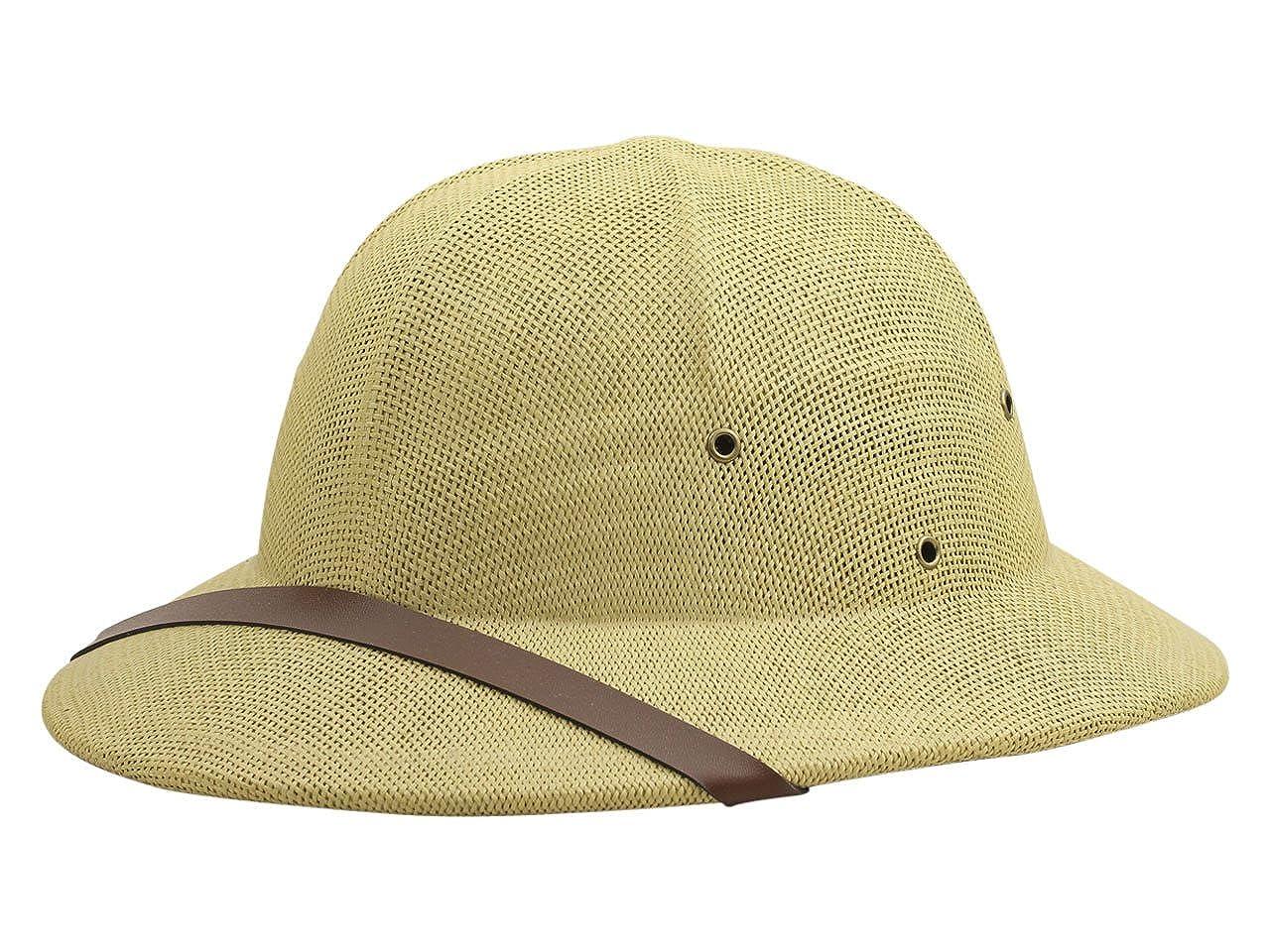 Dorfman Pacific Co. Men's Fine Twisted Toyo Pith Helmet Tan One Size MS414-TAN