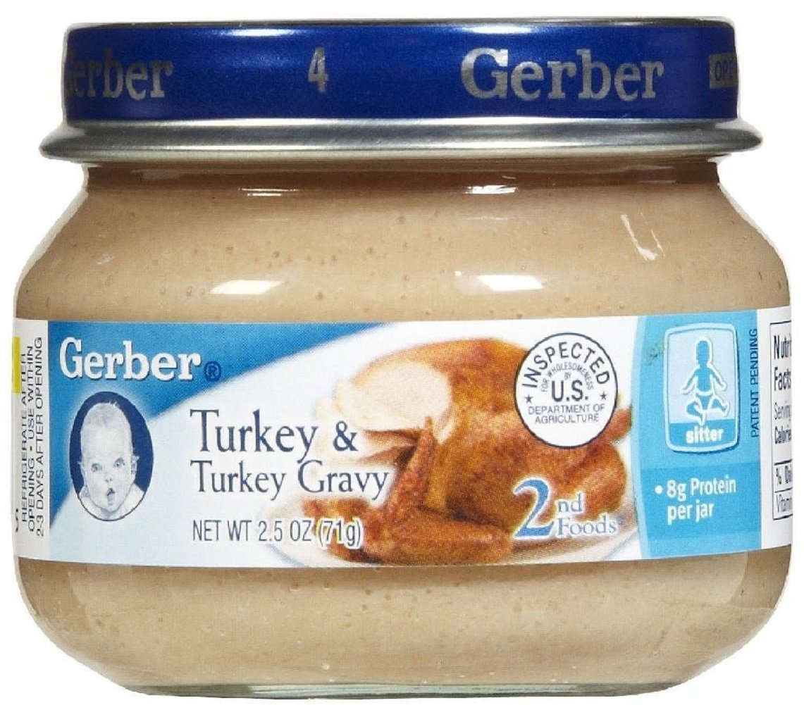 Gerber 2nd Foods Meats, Turkey & Turkey Gravy, 2.5-Ounce (Pack of 24)