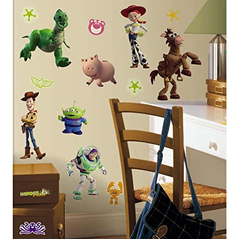 Roommates Toy Story 3 Glow In The Dark Peel And Stick Wall Decals Rmk1428scs