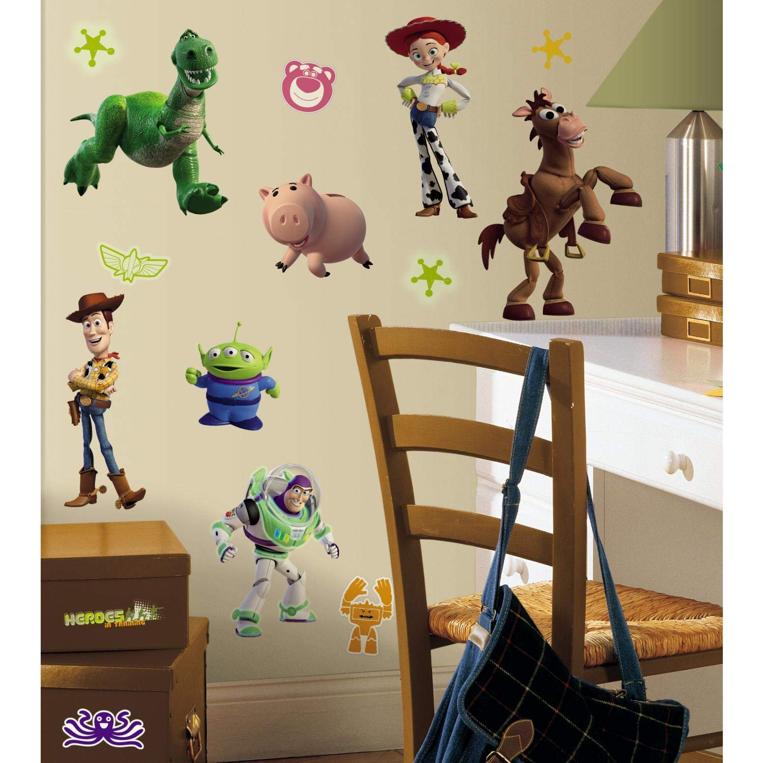 RoomMates Toy Story 3 Glow In The Dark Peel and Stick Wall Decals – RMK1428SCS, Multi