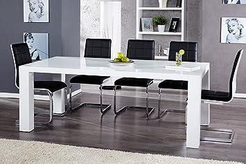 Esstisch weiß hochglanz  Moderner Esstisch BIG BLANC weiß Hochglanz 200cm Konferenztisch ...