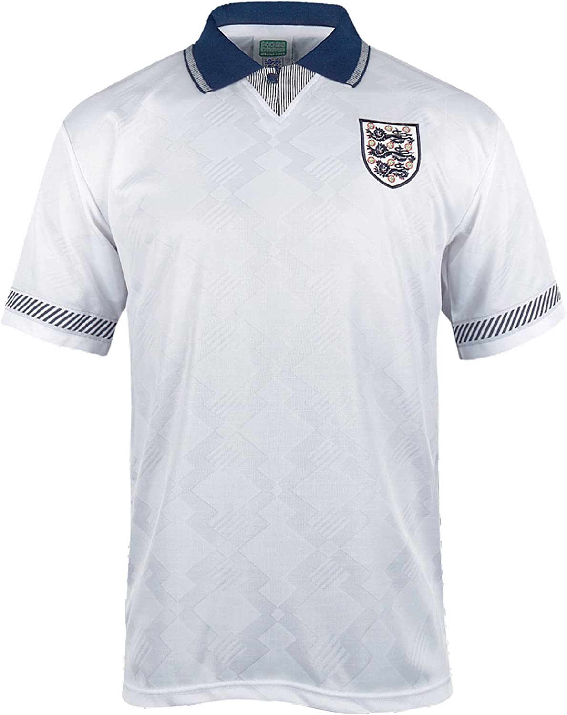 Inglaterra - Camiseta Primera y Segunda Equipación Final Copa del Mundo 1990 - para Hombre - Producto Oficial Retro: Amazon.es: Ropa y accesorios