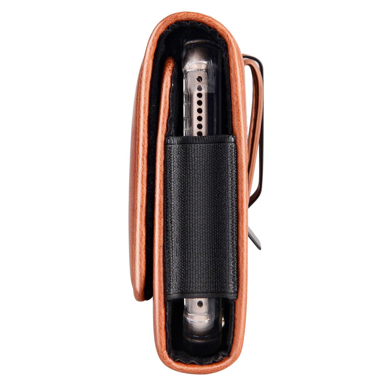 99c2e0f158ea Mopaclle Samsung Galaxy S9 Plus Ceinture Étui, Nylon Cuir de Protection  Porte-Cartes en Holster Clip Coque, Fermeture Aimantée pour Samsung Galaxy  S8 Plus ...