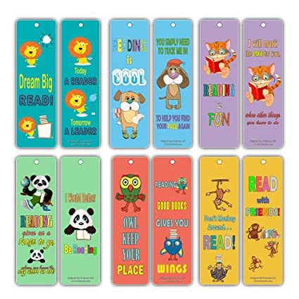 Amazon Bookmarks For Kids Bulk 60 Pack Animal Bookmarker Awesome Reading Quotes For Kids