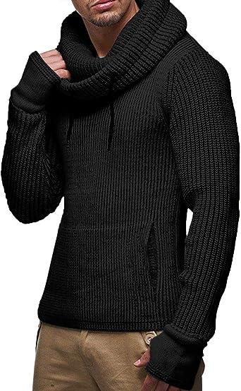COOFANDY - Sudadera de punto de algodón con capucha para hombre ...
