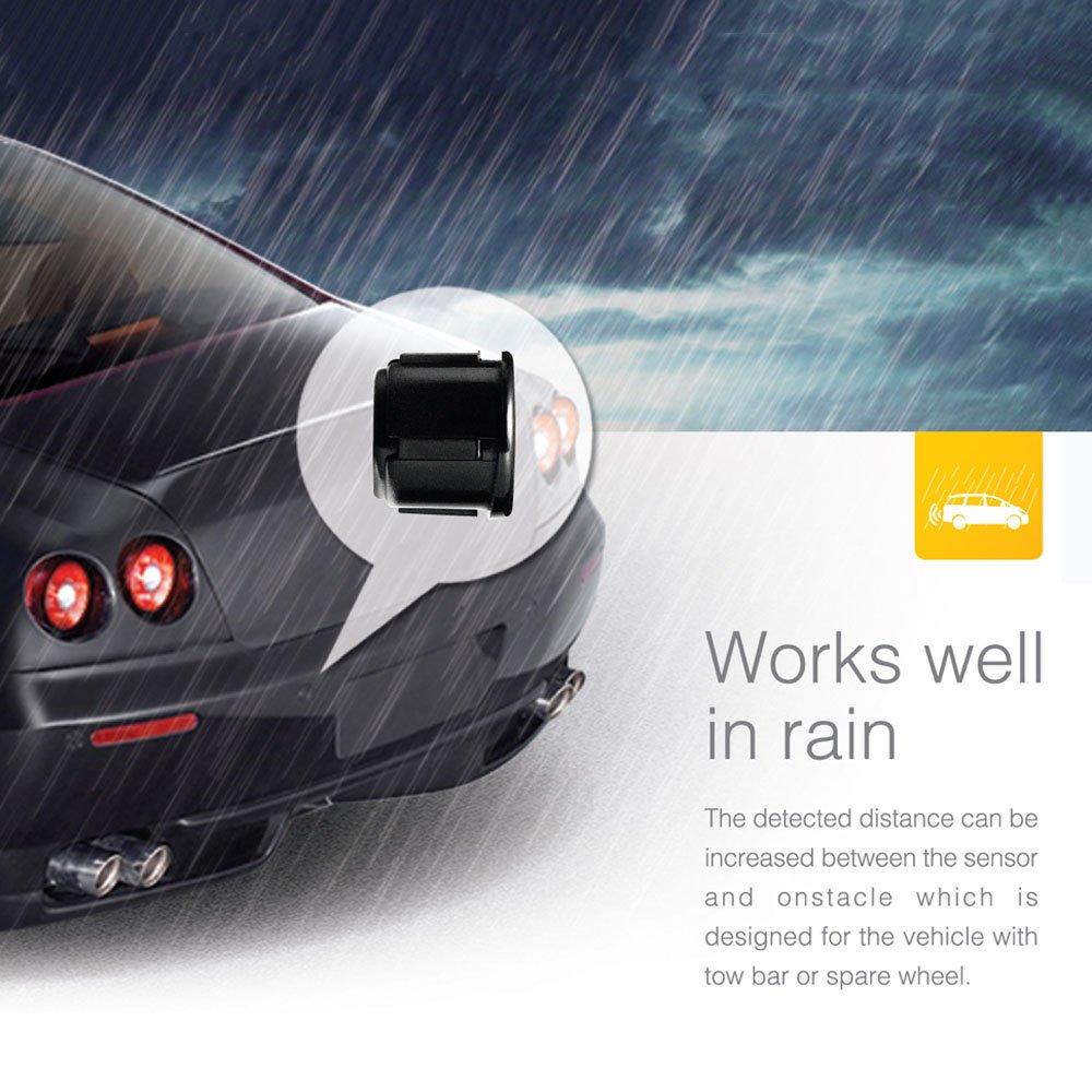 steelmate ebat C1 Kit Radar Rückfahrkamera, 4 Sensoren Auto ... on