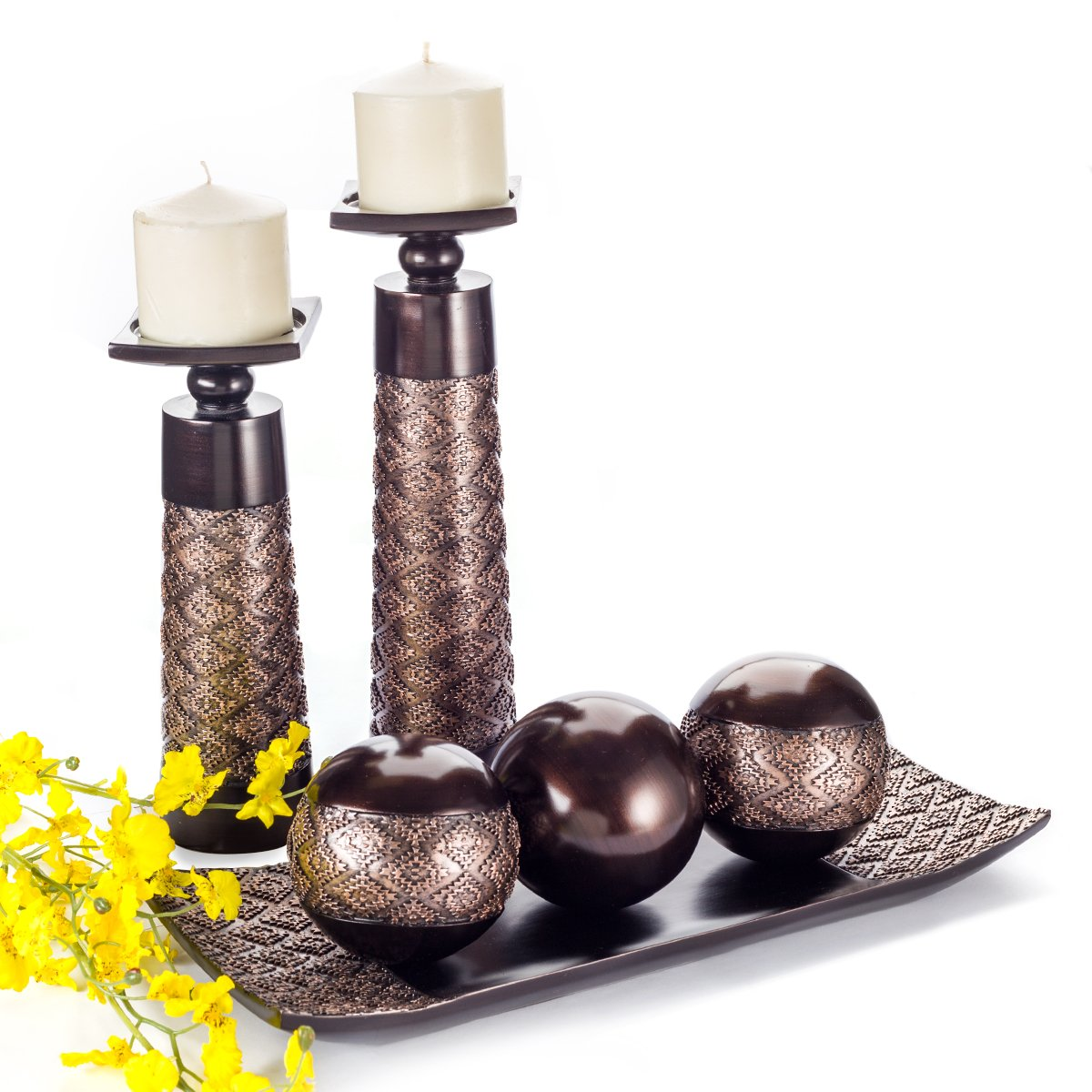 amazon com dublin decorative candle holder set of 2 home decor
