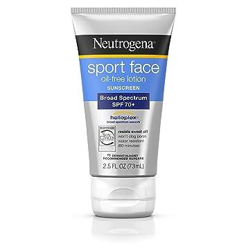 3c04c893a Neutrogena Sport Face Oil-Free Lotion Sunscreen with Broad Spectrum SPF  70+, Sweatproof