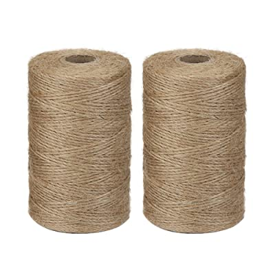 Vivifying 2pcs x 656 Feet Natural Jute Twine, Biodegradable 2Ply Garden Twine for Photos, Gifts, Crafts (Brown) : Office Products