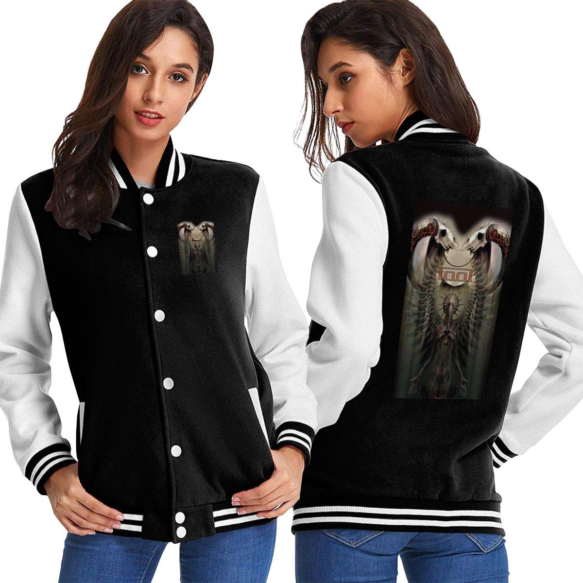Tool Band Womens Custom Varsity Jacket Personalized Baseball Jacket Uniform Sweater Coat