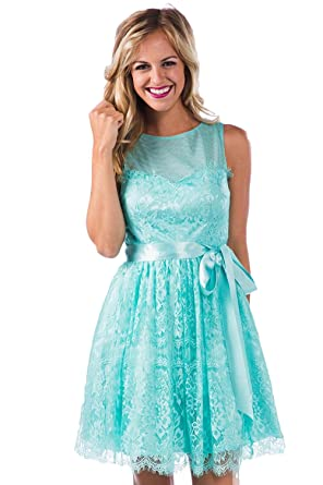 Aokaixin Sheer Neck Lace Plus Size Country Bridesmaid Dresses for ...